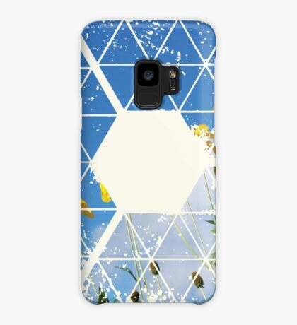 Nature and Geometry - Yellow Flowers Case/Skin for Samsung Galaxy