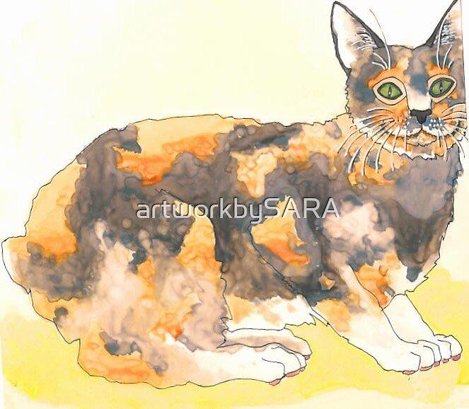 Calico Cat by artworkbySARA