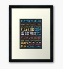 Playroom Rules Framed Print