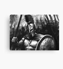 CONQUER - Mightiest Warrior - spartan Canvas Print