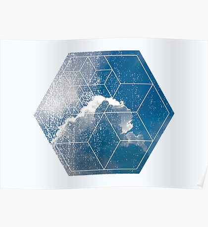 Nature and Geometry - The Clouds Poster
