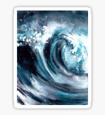 watercolor storm wave Sticker
