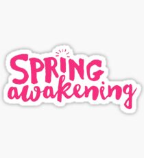 Deaf West Spring Awakening Logo Pink Sticker