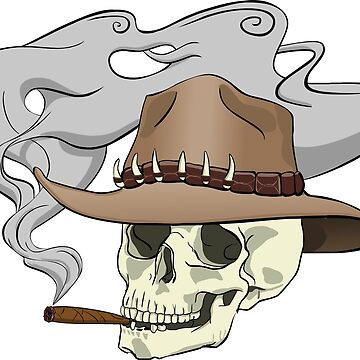 Smoking skull by caguilera