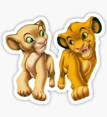 Pegatina Simba y Nala, el Rey León