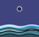 Solar Eclipse Art Totality by Melissa J Barrett