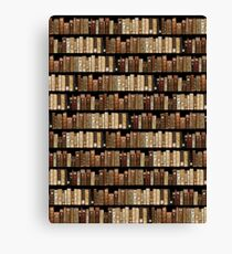 Medieval manuscripts bookshelf Canvas Print