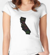 There is no place for hate in our state. - California Women's Fitted Scoop T-Shirt