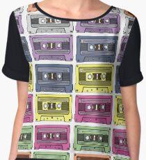Rainbow Cassette Tapes Women's Chiffon Top