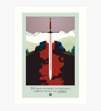Game of Thrones Poster – The Man Who Passes the Sentence Art Print