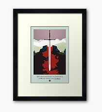 Game of Thrones Poster – The Man Who Passes the Sentence Framed Print
