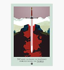 Game of Thrones Poster – The Man Who Passes the Sentence Photographic Print