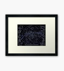 THE SOUTHERN HEAVENS : Vintage Star Chart Print Framed Print