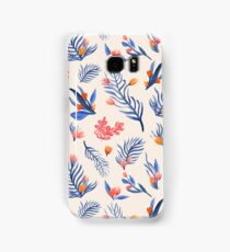 Succulent garden pattern on cream Samsung Galaxy Case/Skin