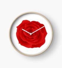 Rose Red Clock