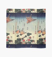 'Wild Strawberries and Birds' by Katsushika Hokusai (Reproduction)  Scarf