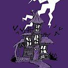 Halloween Spooky Haunted House by SuspendedDreams