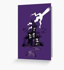 Halloween Spooky Haunted House Greeting Card