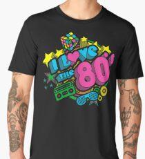 I Love The 80's Retro Eighties Men's Premium T-Shirt