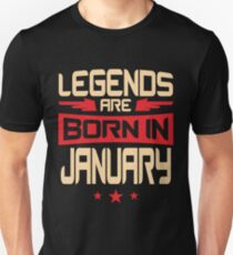 01 Legends Are Born In January Unisex T-Shirt