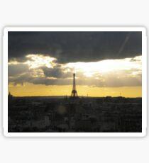 Eiffel tower at sunset Sticker