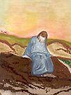 Jesus in prayer by Anne Gitto