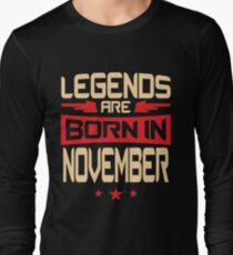 11 Legends Are Born In November T-Shirt