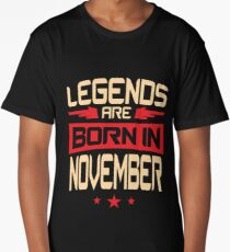 11 Legends Are Born In November Long T-Shirt
