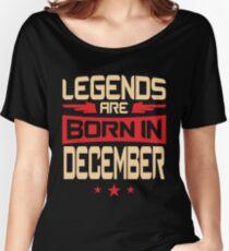 Camiseta ancha para mujer 12 leyendas nacen en diciembre