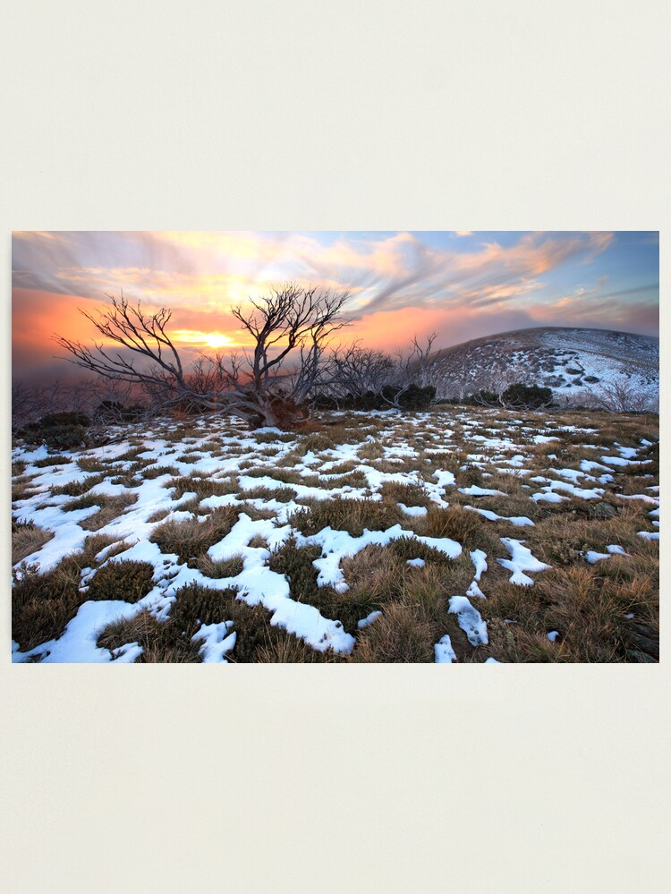 Alternate view of Mt Hotham Early Winter Sunset, Australia Photographic Print