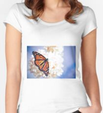 Monarch in Repose Women's Fitted Scoop T-Shirt