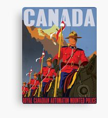 Royal Canadian Automaton Mounted Police Canvas Print
