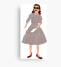 Steam Punk 50s-60s Dot Style Canvas Print