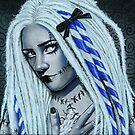 Gothic Ragdoll Fantasy Portrait by Rebecca Sinz