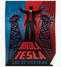 Nikola Tesla: God of Lightning Poster