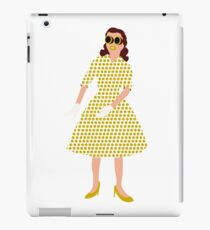 Steam Punk 50s-60s Dot Style Gold iPad Case/Skin