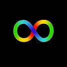 Neurodiversity Rainbow Infinity (AKA the Gay Sideways Eight) by ActingNT