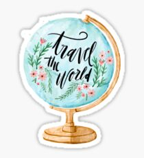 Travel the world globe Sticker