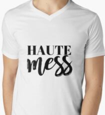 Haute Mess Typography in Black T-Shirt
