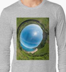 Kinnagoe Bay - Sky In Long Sleeve T-Shirt