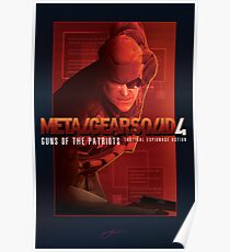 """Metal Gear Solid 4 """"Old Snake"""" Poster Poster"""