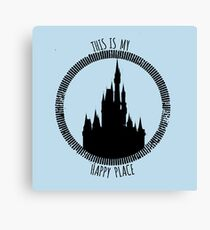 Happy Place - Castle Canvas Print