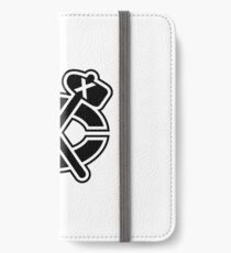 Chicago Blackhawks Alt Logo - Black and White iPhone Wallet/Case/Skin