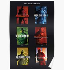 "Metal Gear Solid ""Legacy"" Poster, Metal Gear Solid I-V Tribute Poster"