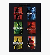 """Metal Gear Solid """"Legacy"""" Poster, Metal Gear Solid I-V Tribute Photographic Print"""
