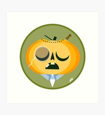 Sir. Gregory Pumpkin Art Print