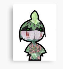 Cute Little Leaf Warrior Canvas Print
