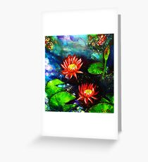 Lillies by Night Greeting Card