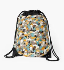 Cats on catnip Drawstring Bag