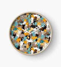 Cats on catnip Clock